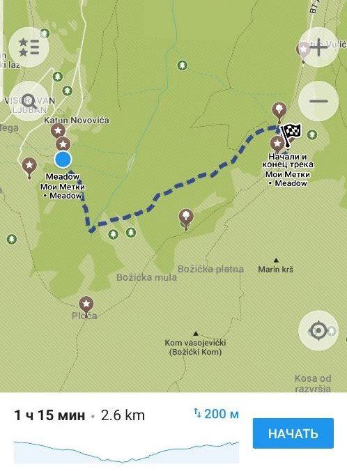 поход в Черногории горы