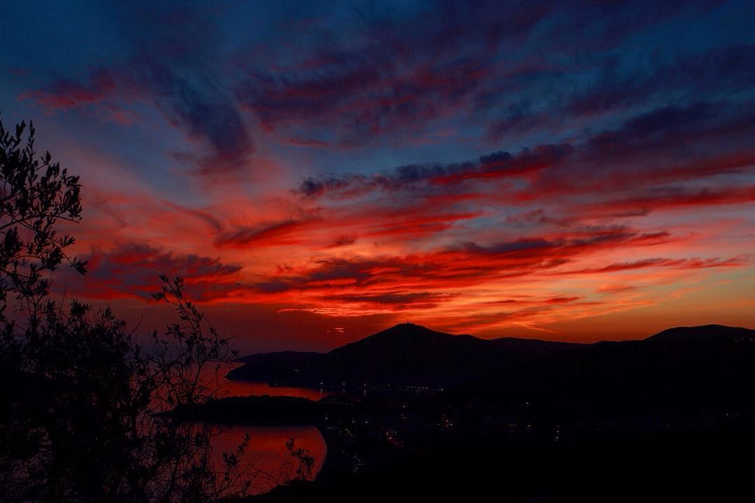 закат в Будве