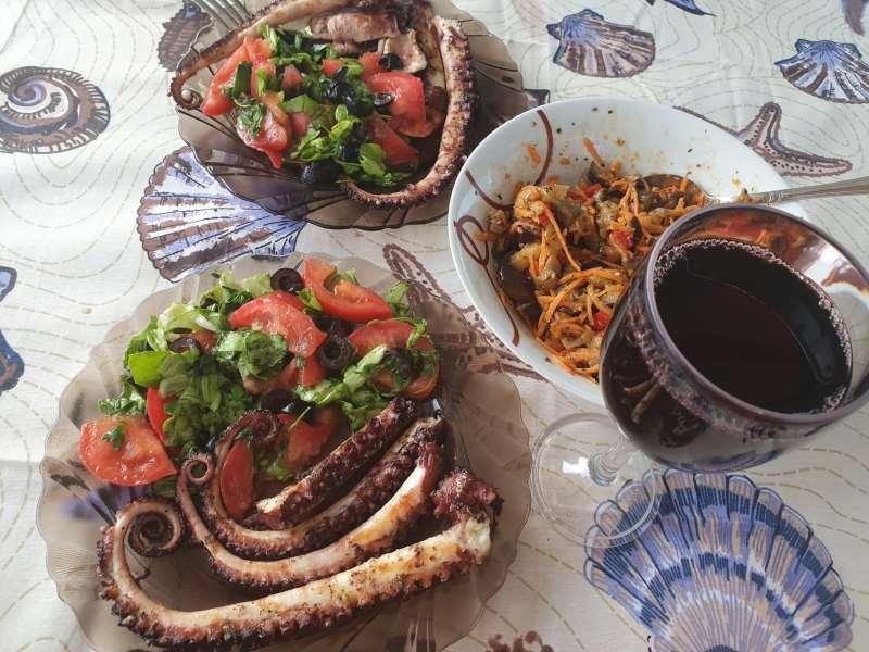 осьминог на гриле рецепт