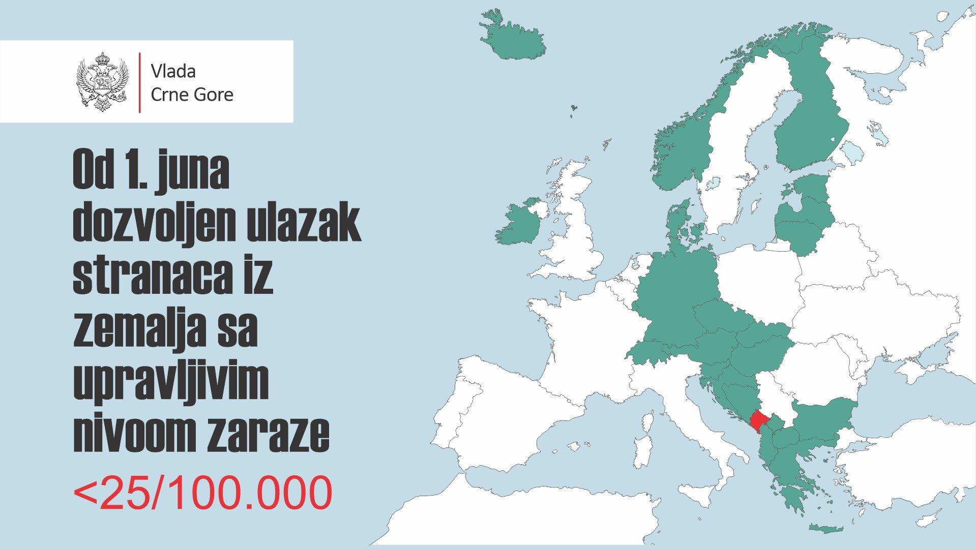 Черногория открывает границы