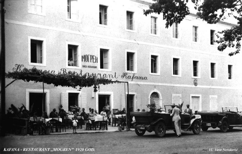"""кафе при отеле """"Могрен"""" в 1920"""