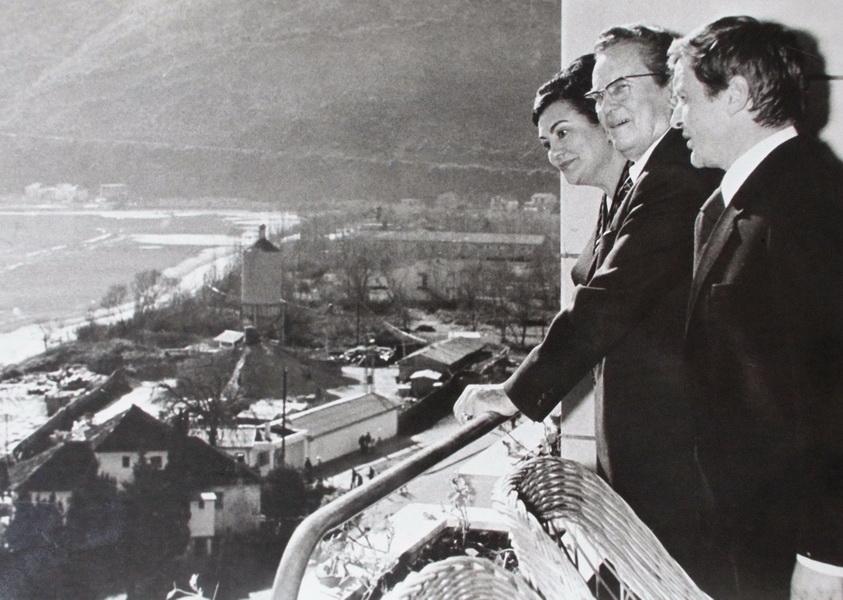 Тито и Йованка в Игало