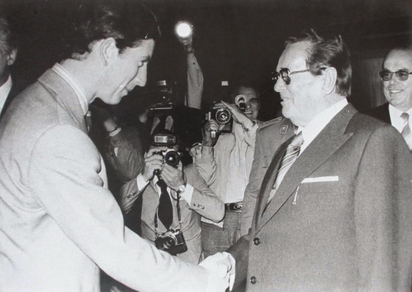 Принц Чарльз и Тито в Игало