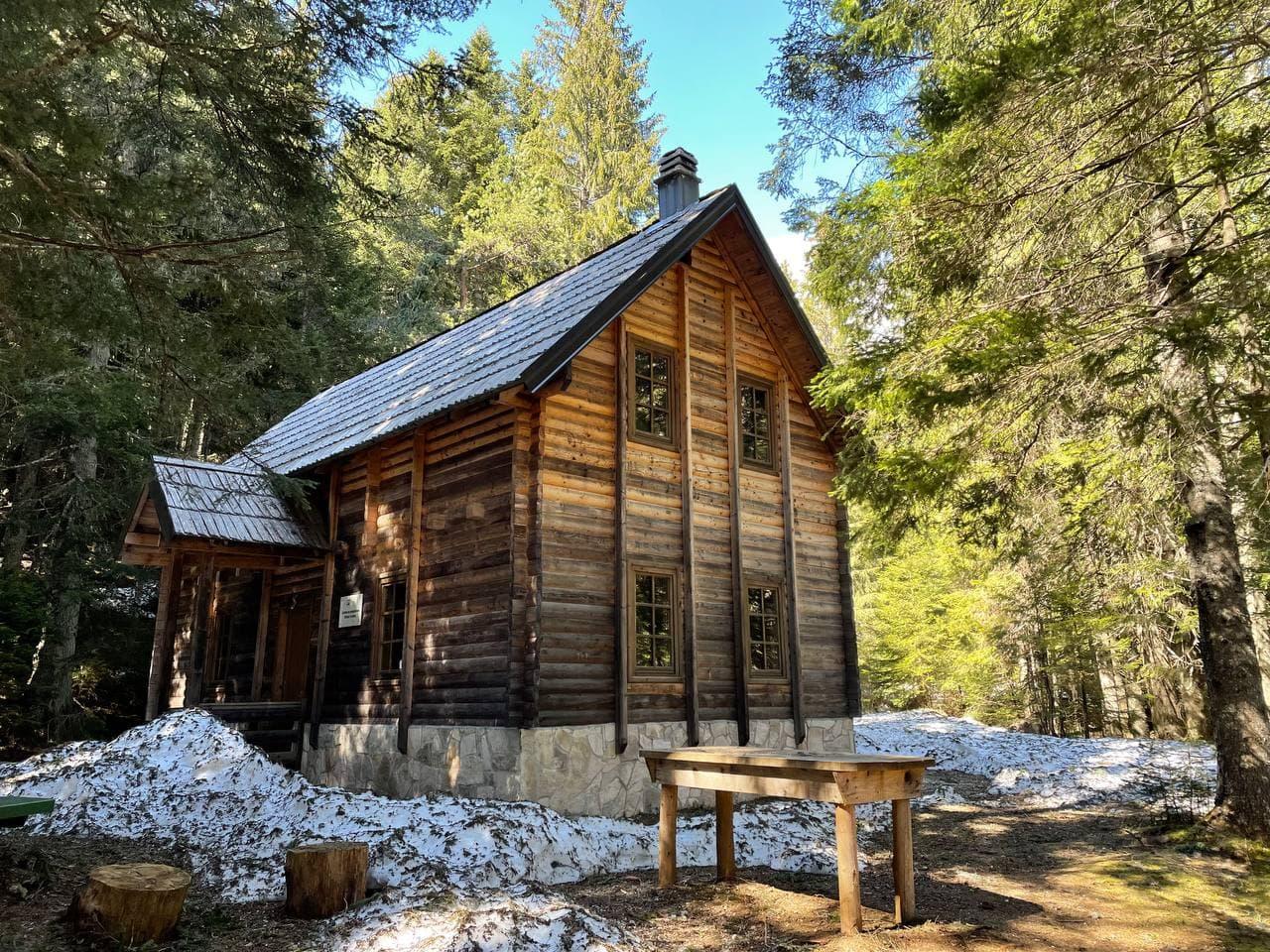 Черногория Дурмитор фото лесного домика