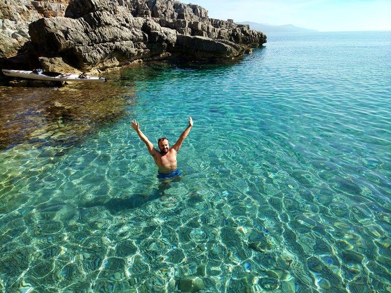 пляж Весло луштица черногория