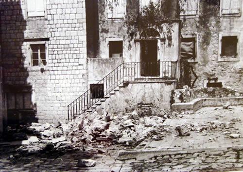 старая Будва в землетрясение