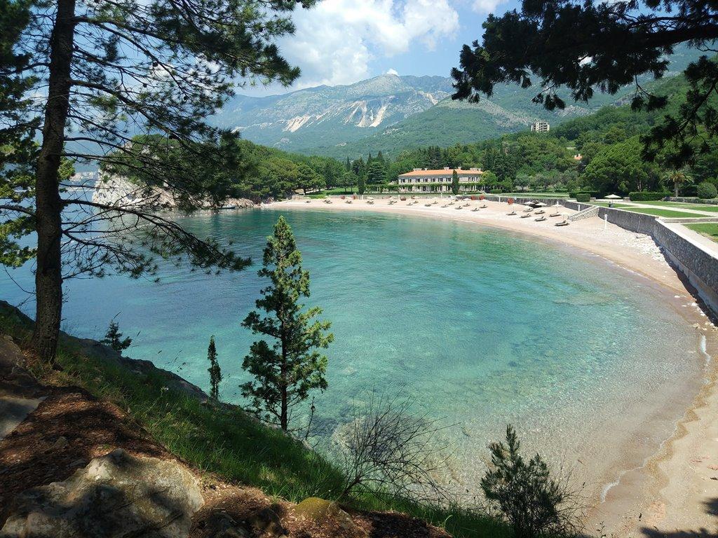 пляж Милочер Святой Стефан