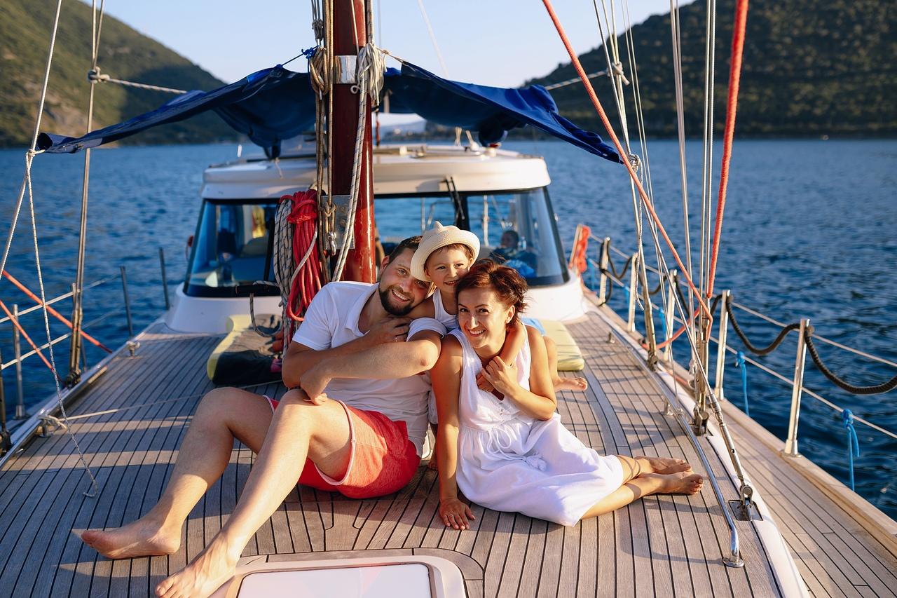 фотосессия на яхте в Черногории