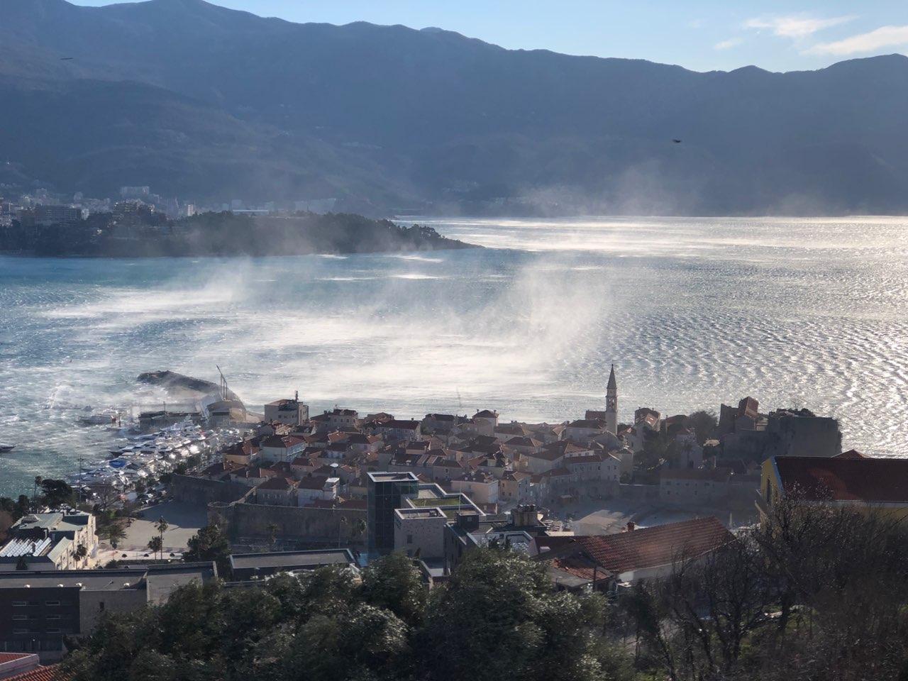 Черногория ветер Бура