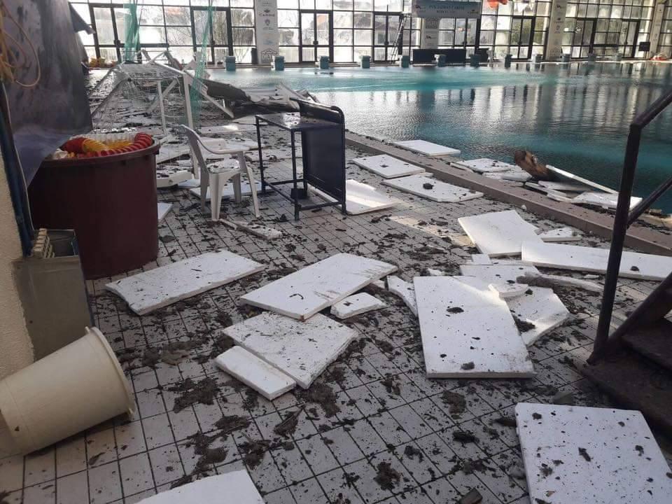 бассейн в Игало после ветра