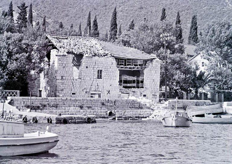 Бока Которская бухта в землетрясение 1979 г