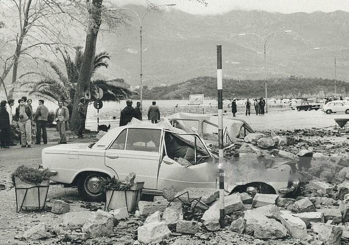 Черногория в землетрясение 1979