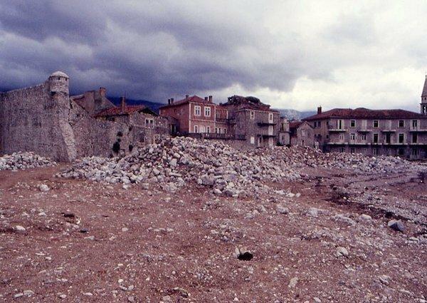 Будва в землетрясении 1979