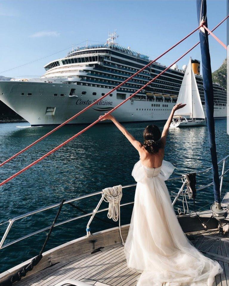 свадьба на яхте в Черногории
