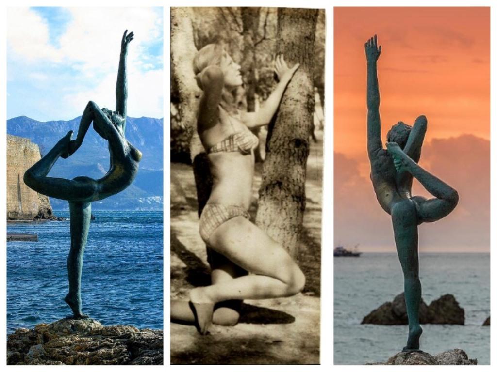 статуя балерины в Будве