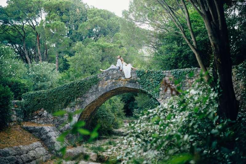 мост в парке Милочер
