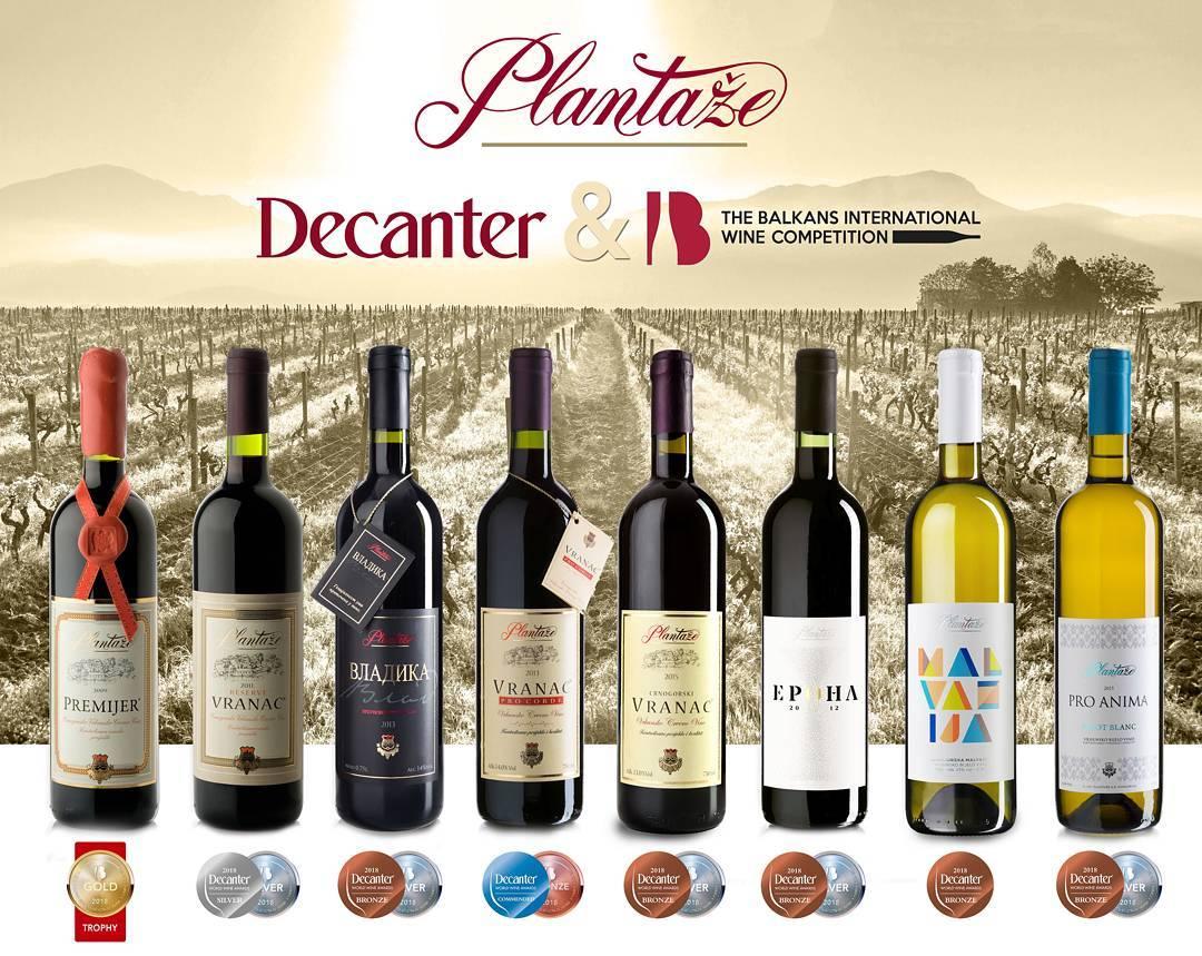 черногорское вино Плантаже