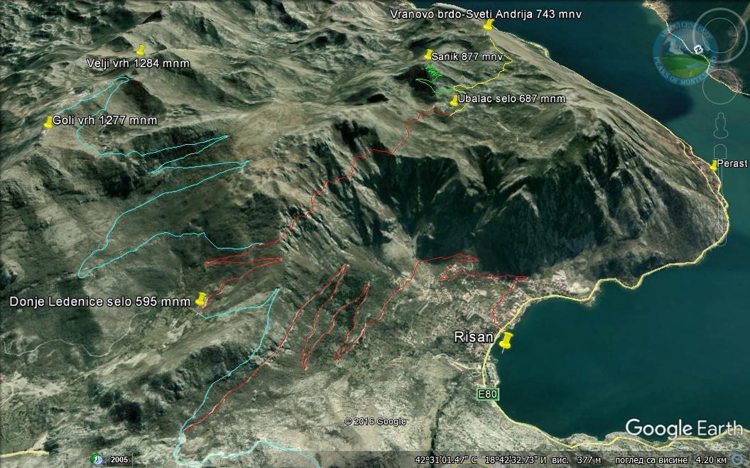 горный поход в Черногории